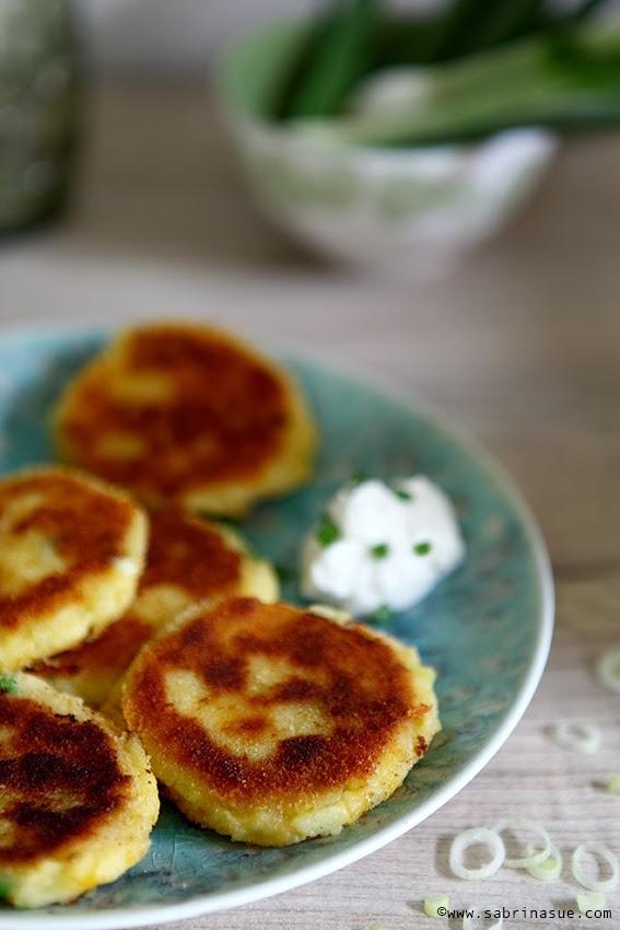 Käse-Kartoffelbrei-Küchlein