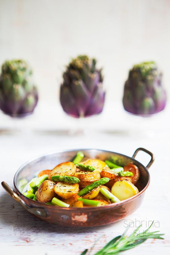 Mediterrane Kartoffel-Spargel Pfanne