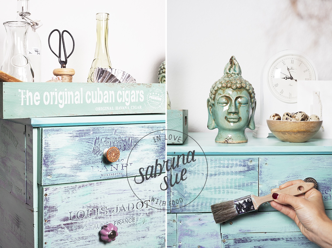 Diy shabby chic vintage kommode sabrinasue in love with food - Kommode lackieren ...