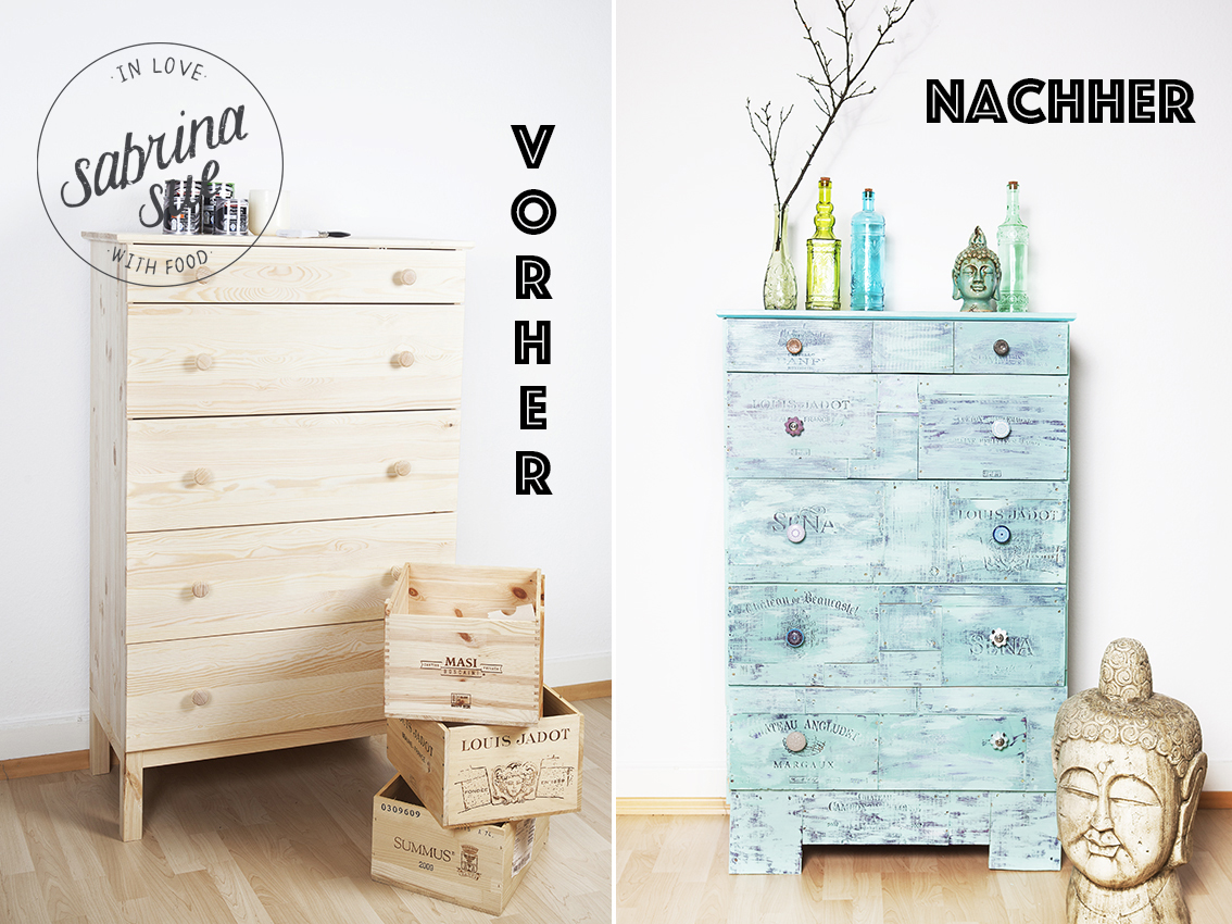 diy shabby chic vintage kommode sabrinasue in love. Black Bedroom Furniture Sets. Home Design Ideas