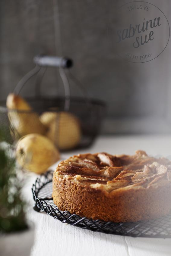 Vegane Birnen-Cashew-Tarte