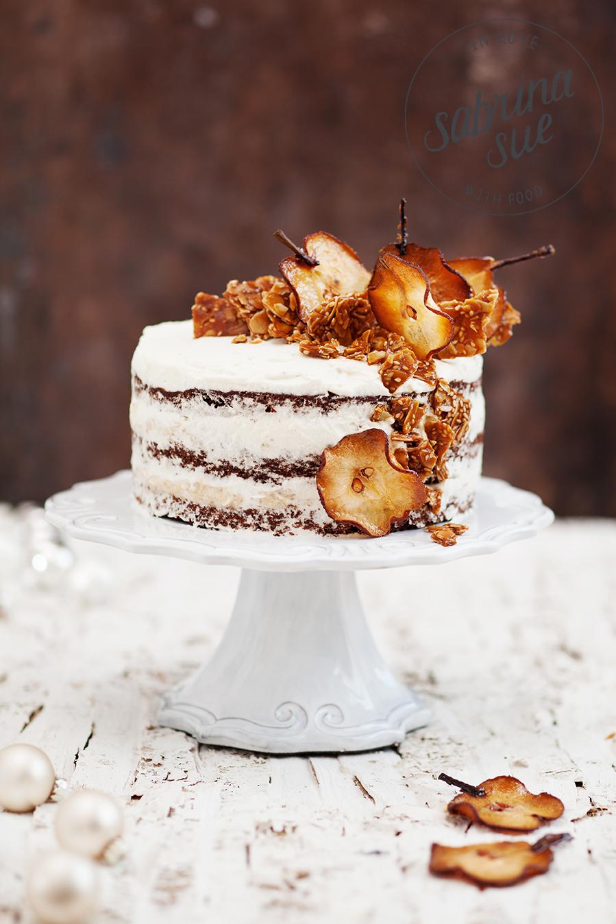 Birnen Kokos Torte & Sesam Mandel Krokant