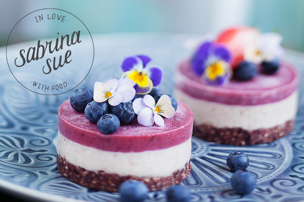 Raw Strawberry Cheesecakes