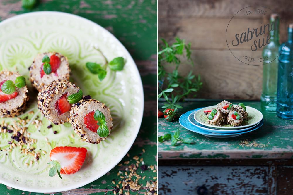 Strawberry Quinoa Sushi Roll