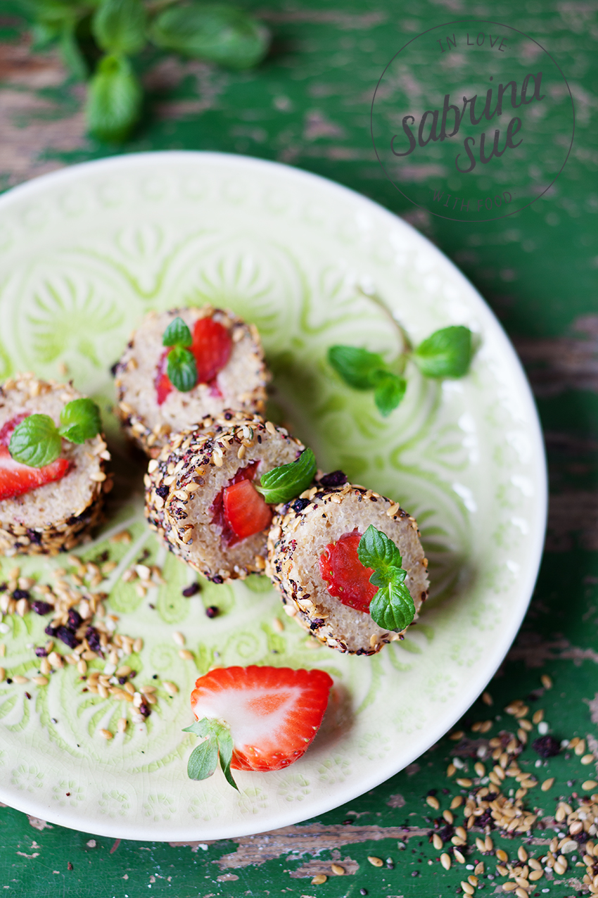 Strawberry Quinoa Sushi