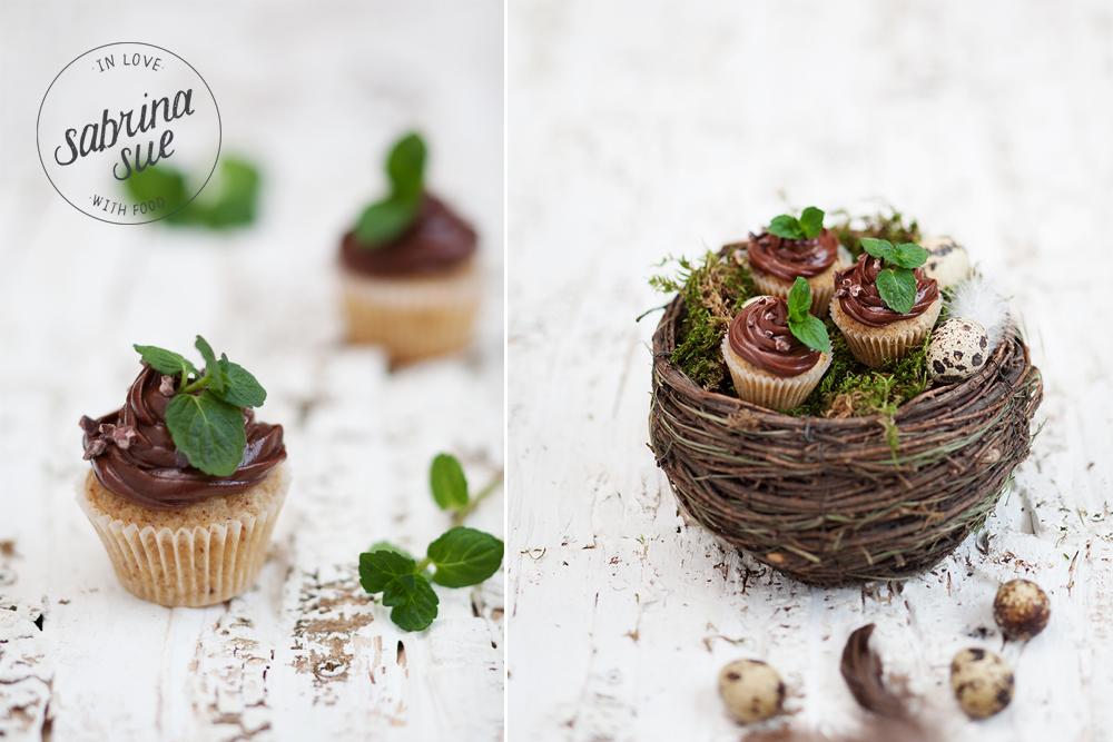 gluten freie Haselnuss-Schokoladen Cupcakes