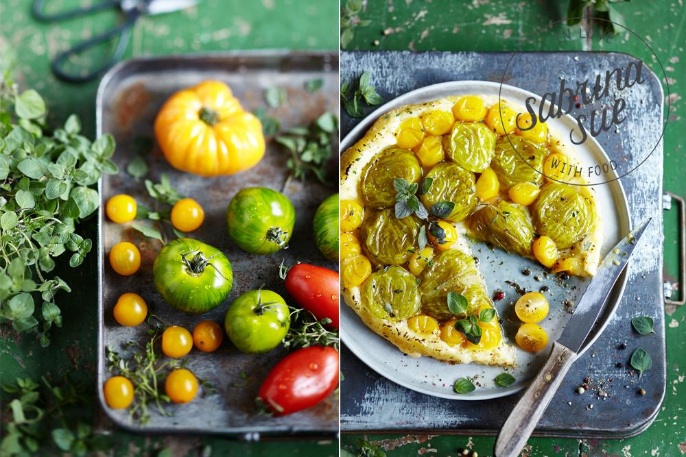 gruene tomaten tarte tatin