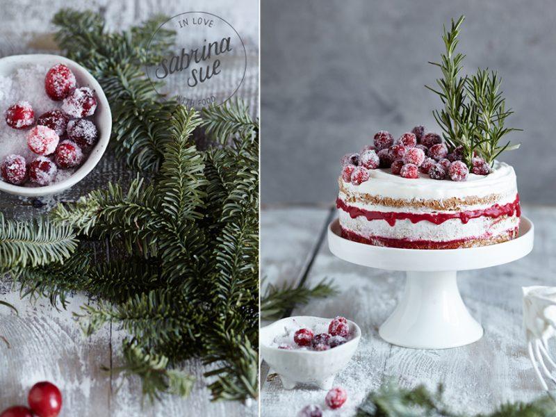 Cranberry Rosmarin Torte