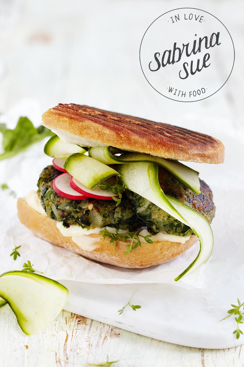Spinat Schwarzwurzel Burger