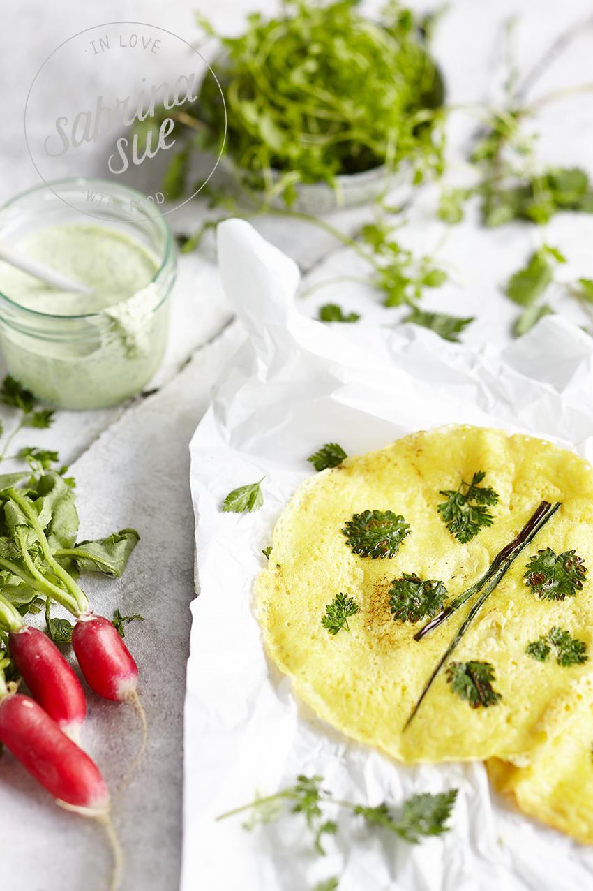 Hessisch Banh Xeo Wraps & Frankfurter Gruene Sosse