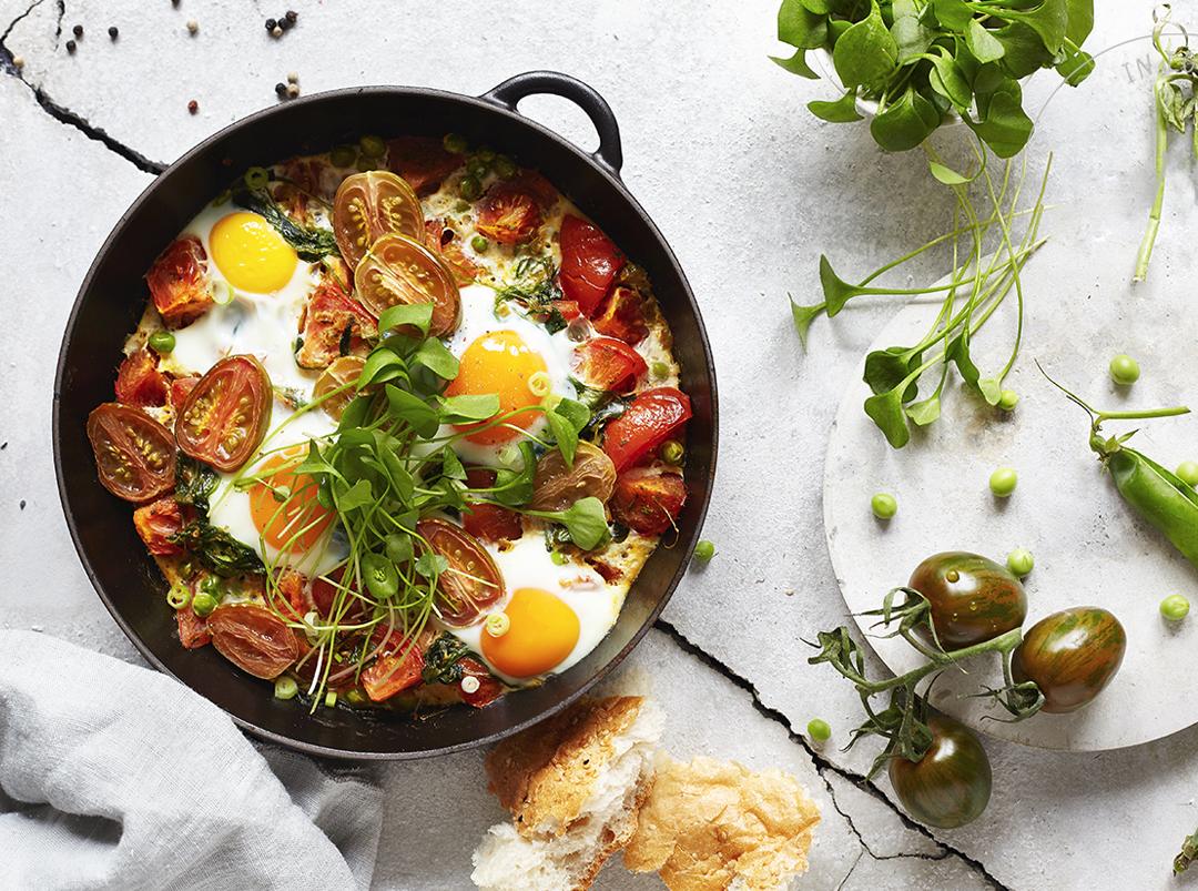 Tomaten-Portulak-Shakshuka