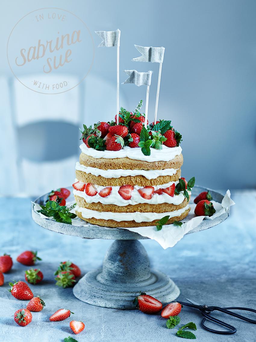 Erdbeer-Käsekuchentorte