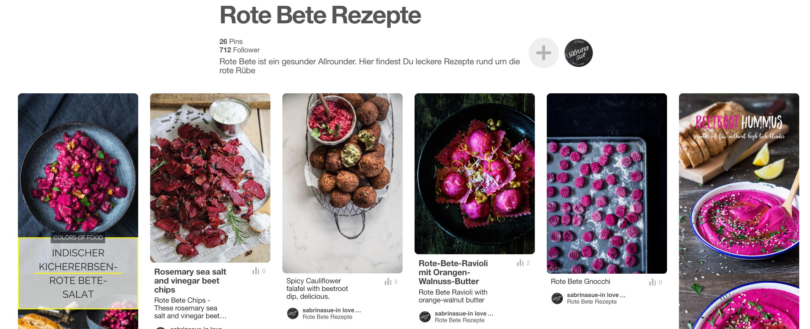 Rote Bete Rezepte auf Pinterest