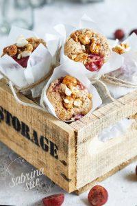 Gebrannte Cashew-Stachelbeer Muffins