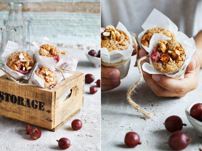 Gebrannte Cashew Stachelbeer Muffins