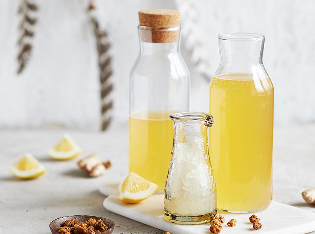 Maulbeeren-Wasserkefir Limonade