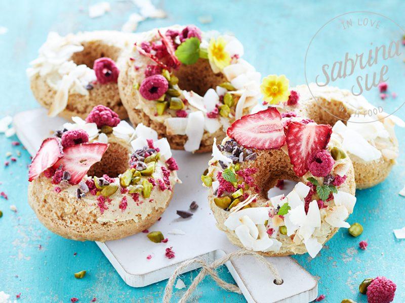 Vegan Apple-Coconut Donuts