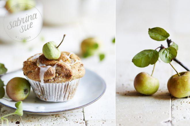 Apple Cinnamon Walnut Muffins