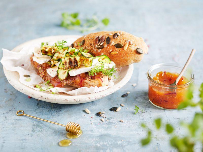 Zucchini-Camembert Sandwich