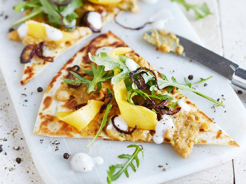 Mango-Rucola-Pizza