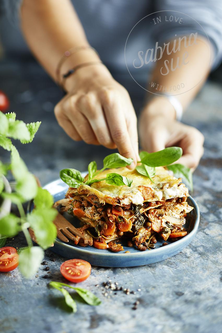 Linsen-Spinat Lasagne