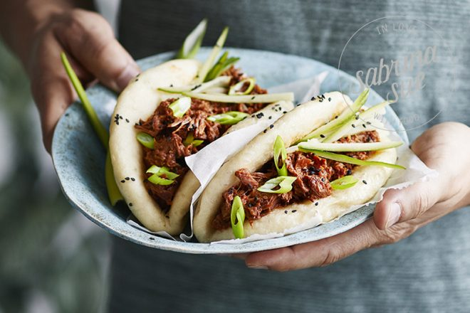 Bao Buns mit Pulled Jackfruit