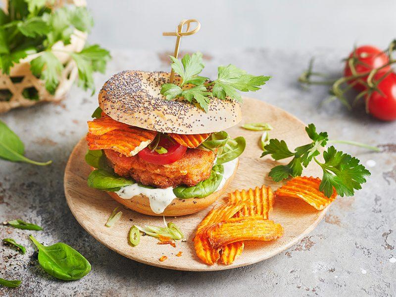 Kimchi-Süßkartoffel-Burger