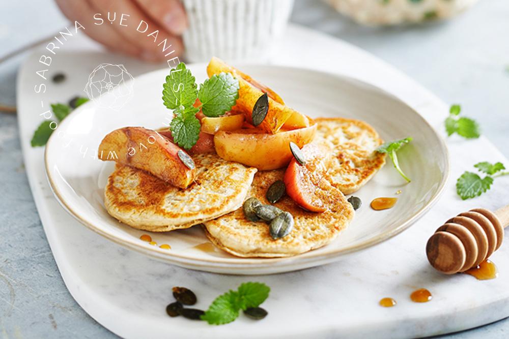 zuckerfrei leben_Haferflocken Pancakes
