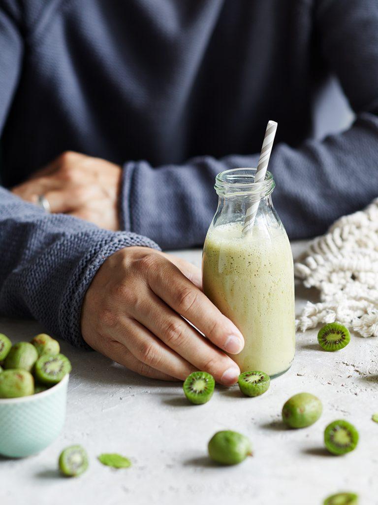 Apfel-Kiwi Kefir Shake