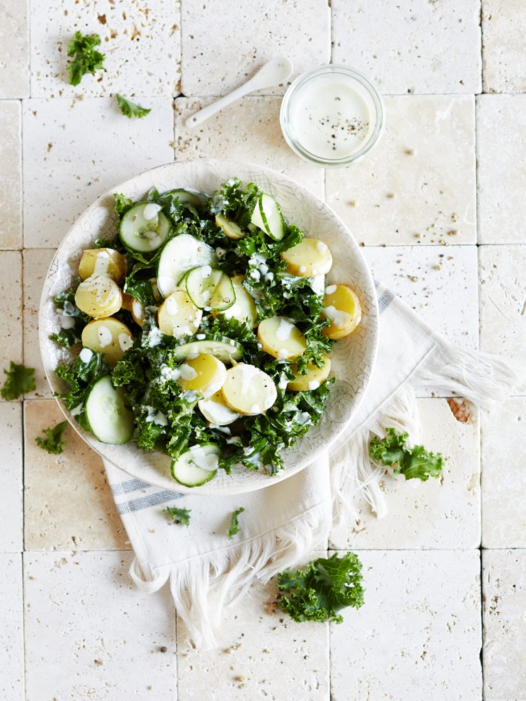 Grünkohl Gurken Salat