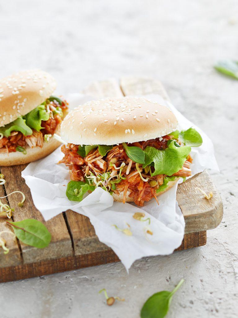 Foodstyling Jackfruit Burger
