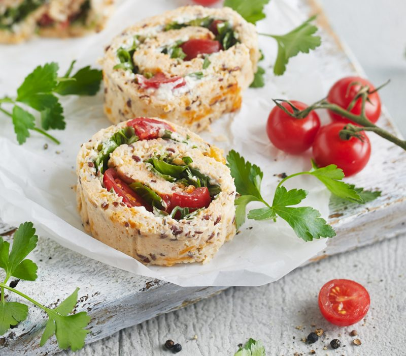 Low Carb Blumenkohl-Rucola Rolle