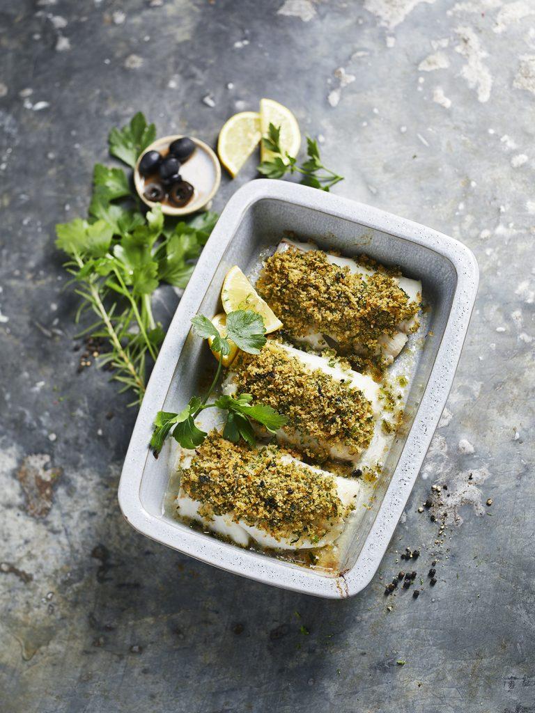 Überbackener Kräuterfisch Foodstyling von Sabrina Sue Daniels