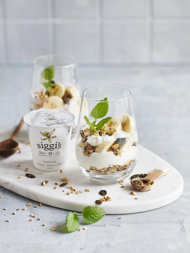 Rezeptentwicklung für Bananen-Skyr Trifle