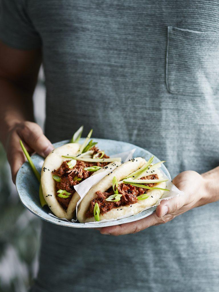 Foodfotografie für Bao Buns mit Pulled Jackfruit