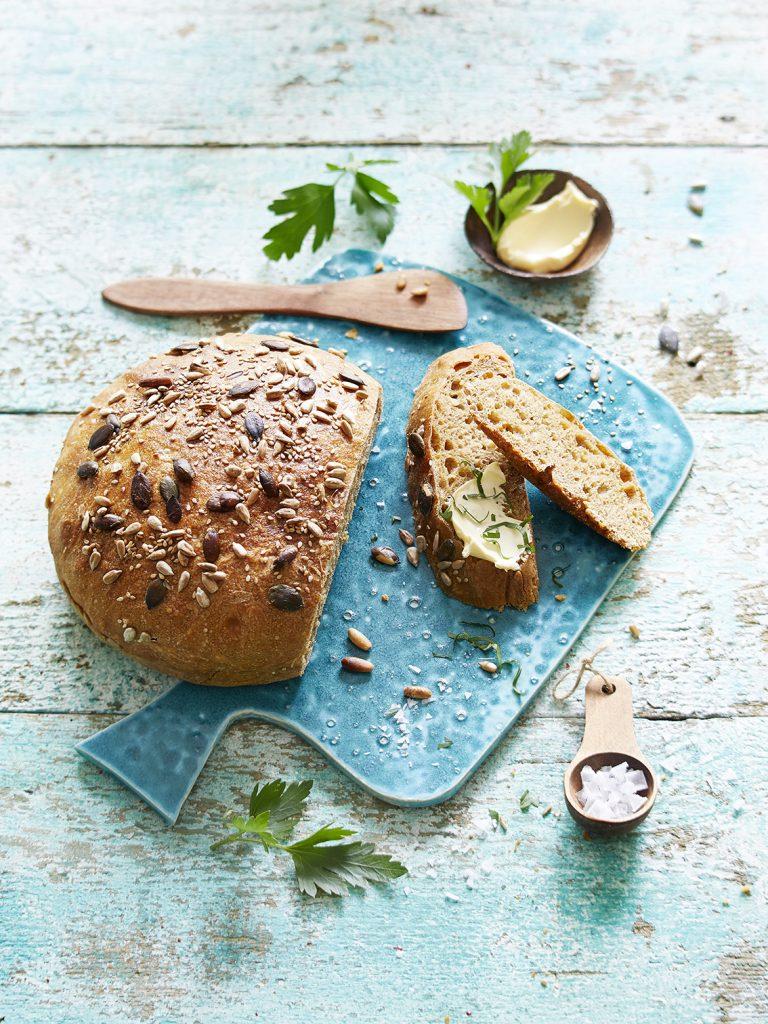 Foodfotografie für Dinkel-Mais Brot