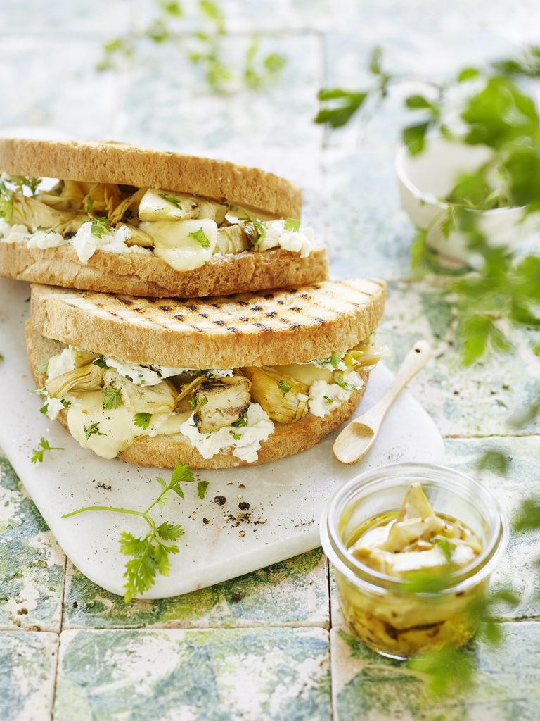 Foodfotografie für Artischocken Sandwich