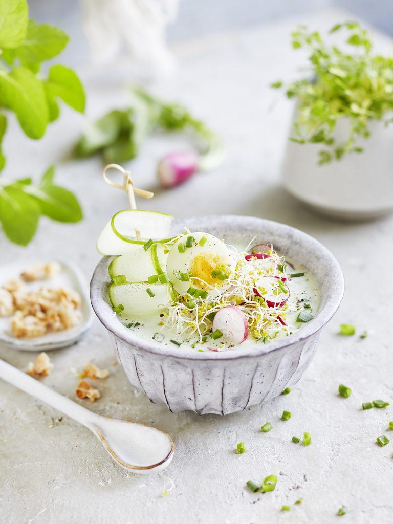Foodfotografie für Radieschen-Buttermilch Suppe