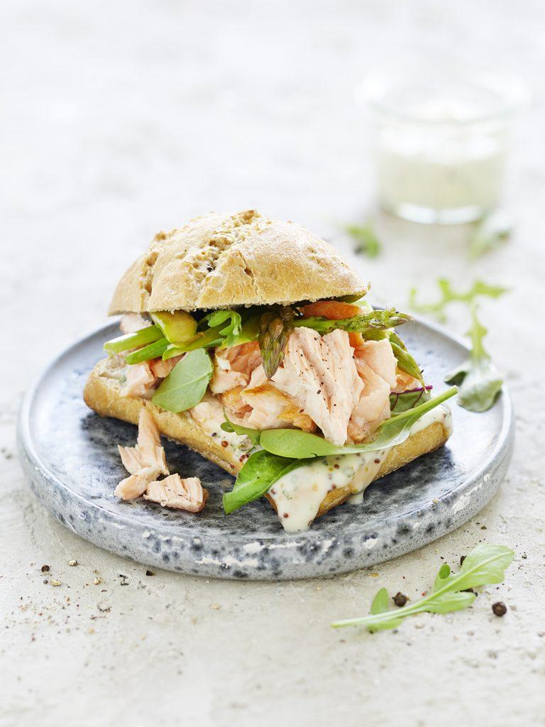 Foodfotografie für Pulled Lachs-Burger