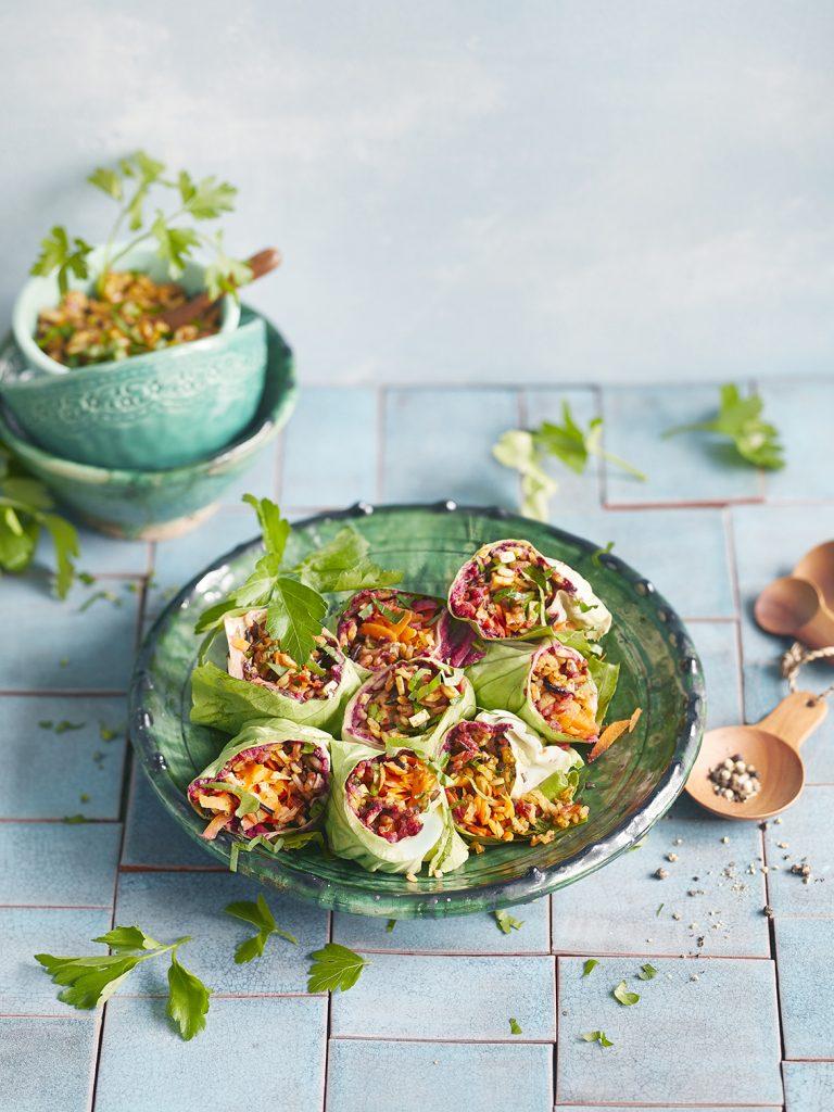 Rezeptentwicklung für Wildreis-Salat Wraps