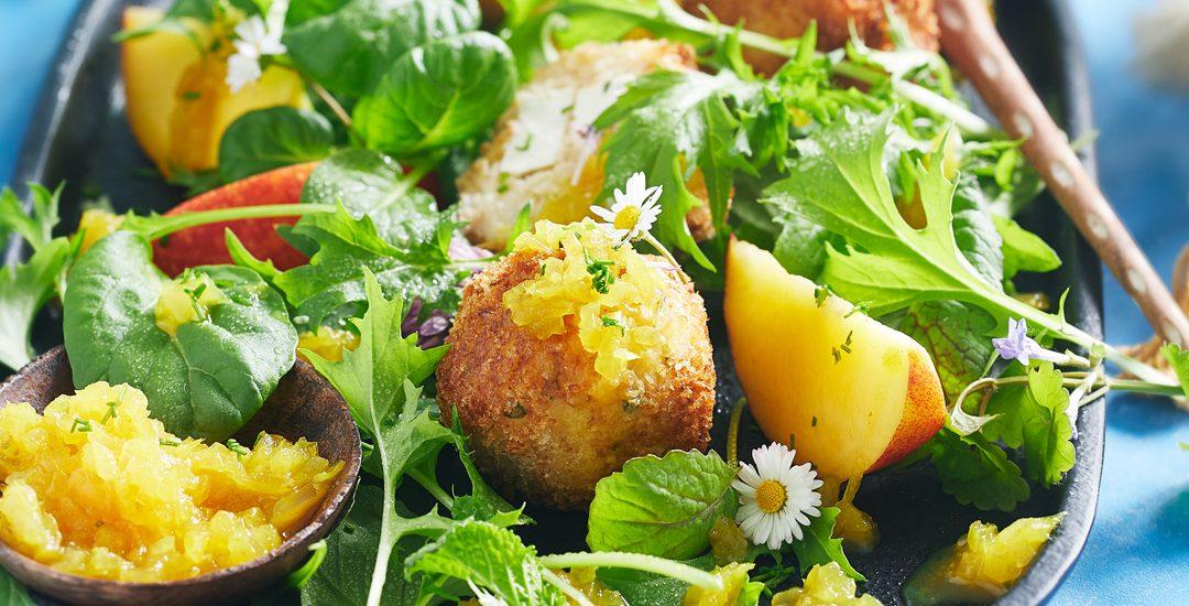 Blumenkohl-Couscous Bällchen mit Feta