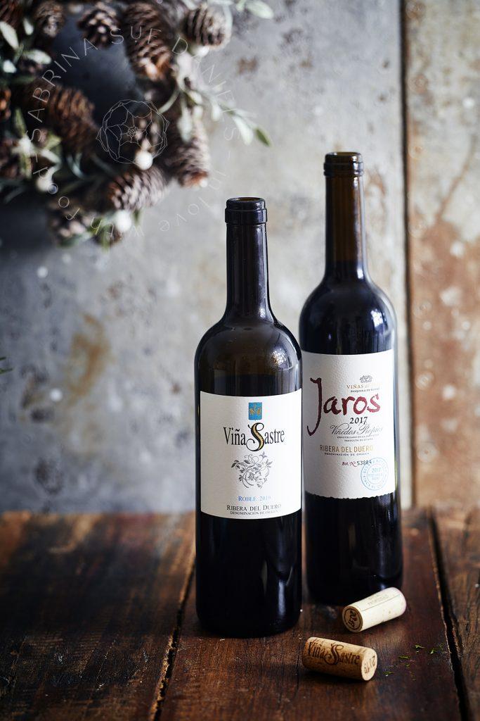 Wein und Herzhafte Biskuitrolle