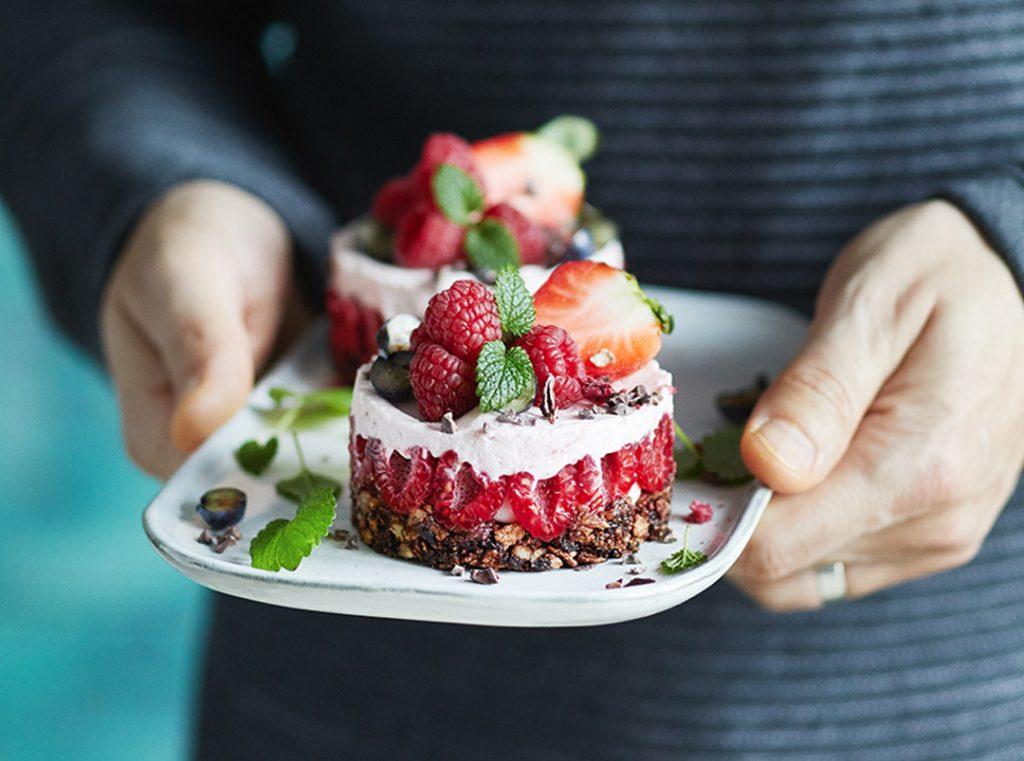 Raspberry Tartlet with crunchy base