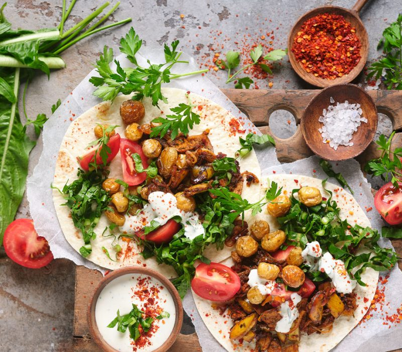 Kebab/Gyros aus Bananenschalen