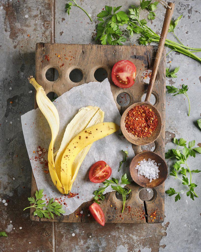 Rezept für Kebab aus Bananenschale